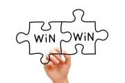Win Win Puzzle Concept